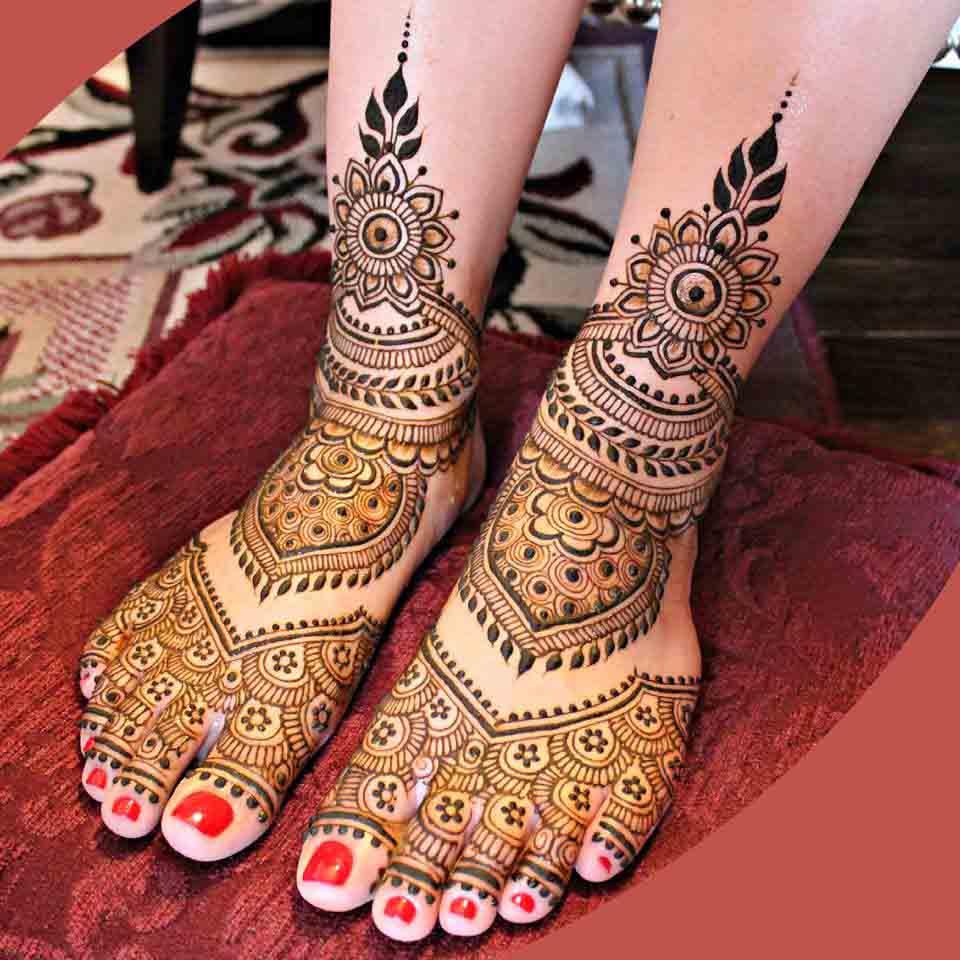 Bridal Black And Red Mehndi Designs - Easy Mehndi Design